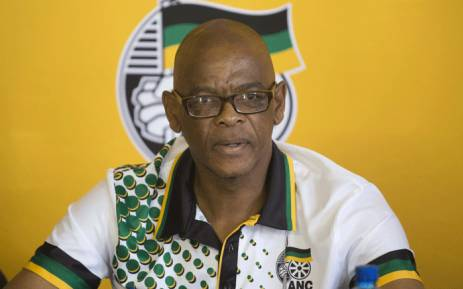 FILE: African National Congress secretary general Ace Magashule briefs the media at the Absa Stadium in East London on 12 January 2018. Picture: Christa van der Walt/EWN.
