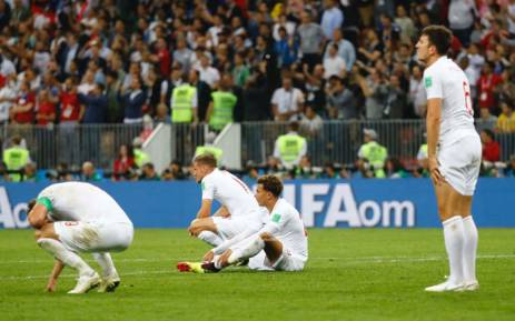 England players react to their World Cup semifinal loss to Croatia on 11 July 2018. Picture: @EnglandFA/Twitter