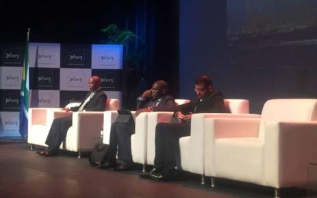 Johannesburg Mayor Herman Mashaba attends the city's annual general meeting. Picture: Thando Kubheka/EWN.