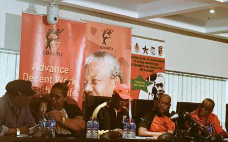 Cosatu leadership at a press briefing on 03 February 2016. Picture: Govan Whittles/EWN