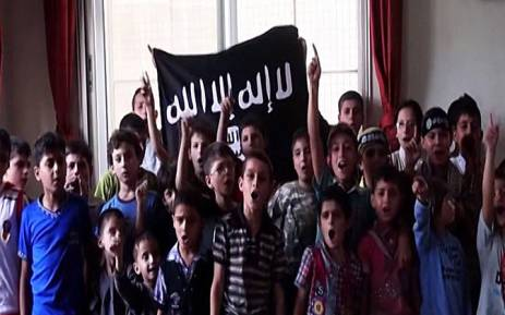 A screen grab from CNN's report on militant group ISIS recruiting children from an early age. Picture: CNN.