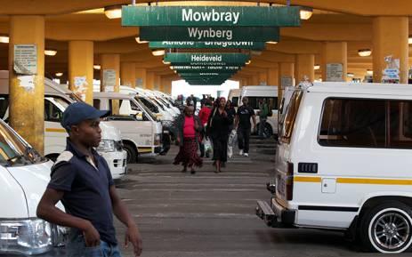 Cape Town minibus taxi rank. Picture: EWN
