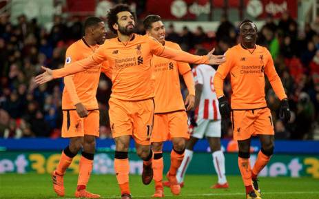 Liverpool's Mohamed Salah celebrates his goal against Stoke City in the English Premier League on 29 November 2017. Picture: Facebook.