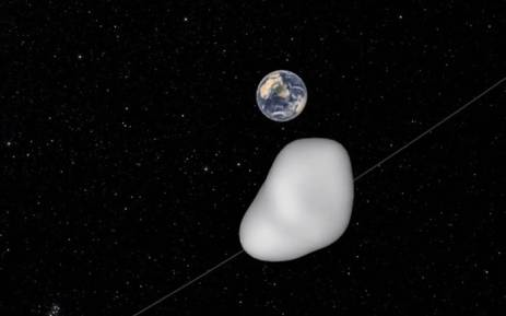 On 12 October 2017, a small (15-30 metre) asteroid known as 2012 TC4 will safely fly past Earth. Picture: Nasa.