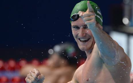 Cameron Van der Burgh is working hard to obtain more medals in the 2016 Olympics. Picture: AFP.