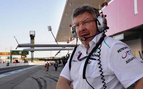 Managing director for motorsport Ross Brawn. Picture: AFP.