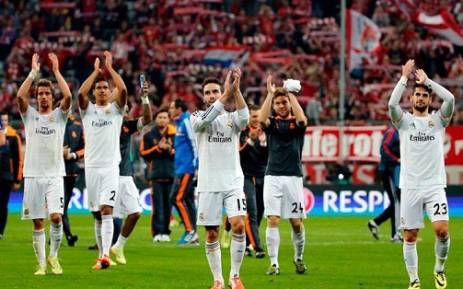 Real Madrid players applaud their fans after their victory over Bayern Munich. Picture: Facebook.com