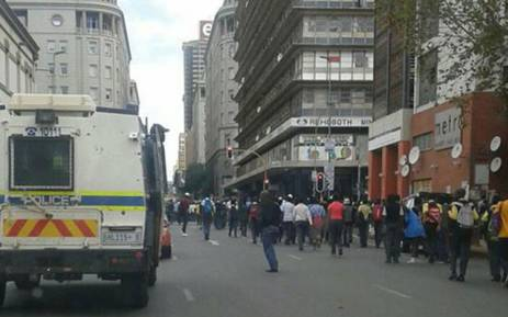 School pupils from Ekurhuleni, Pretoria and Johannesburg march in Johannesburg CBD. Picture: Intelligence Bureau SA via Facebook.