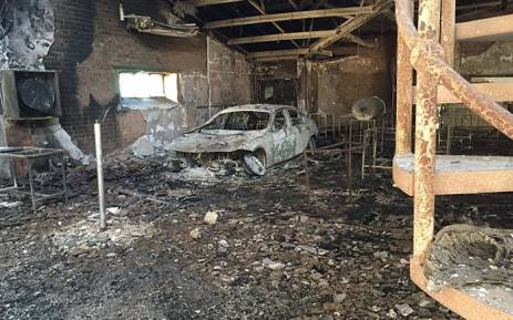 FILE: The science centre and the administration block at the North West University have been destroyed by a fire during a violent demonstration at the institution on Wednesday night. Picture: Vumani Mkhize/EWN.
