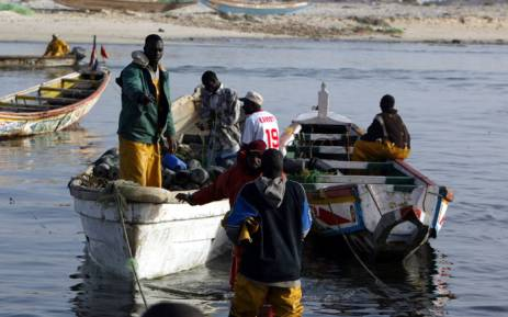 Fishermen prepare to leave the local fishing port of Charca Nouadhibou. Picture: AFP/Seyllou Diallo.