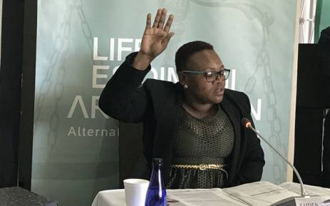Daphney Ndhlovu, a social worker from Cullinan, testifies at the Life Esidimeni alternative dispute resolution process in Johannesburg on 16 October 2017. Picture: Masego Rahlaga/EWN