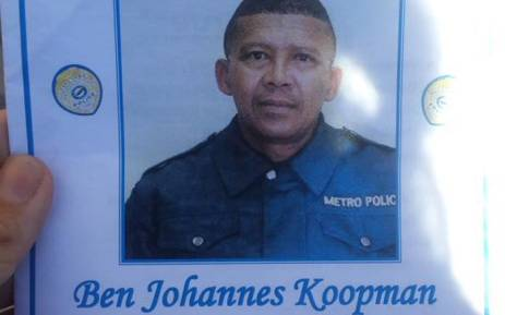 Constable Ben Koopman was shot in front of his house in February 2016. Picture: Ilze-Marie Meintjes/EWN.