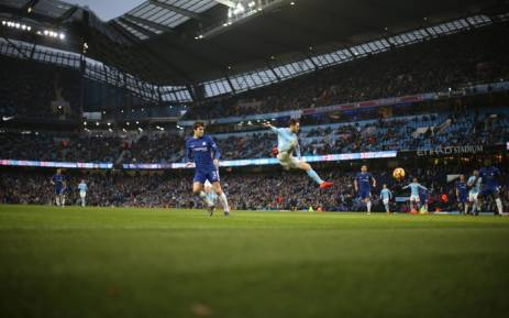 Manchester City's Bernardo Silva in action against Chelsea. Picture: @ManCity/Twitter.