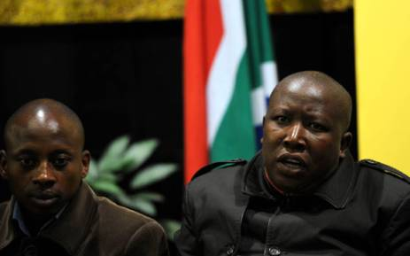 FILE: Andile Lungisa (left) and EFF leader Julius Malema. Picture: EWN.