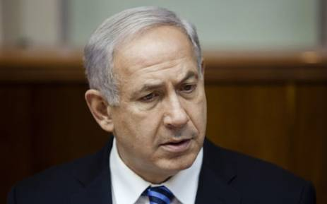 Israeli Prime Minister Benjamin Netanyahu attends the first cabinet meeting after the swearing-in of the new Israeli government in Jerusalem on March 18, 2013. Picture: AFP.