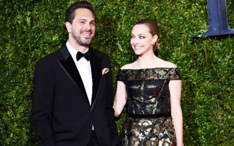 FILE: Actors Thomas Sadoski (L) and Amanda Seyfried. Picture: AFP.