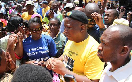 Former ANCYL president Julius Malema came out to support Lenasia residents against housing demolitions.
