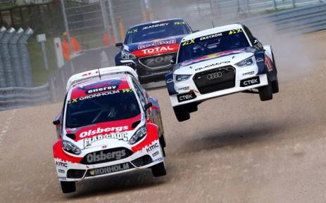 A World Rallycross event. Picture: @FIAWorldRX/Twitter