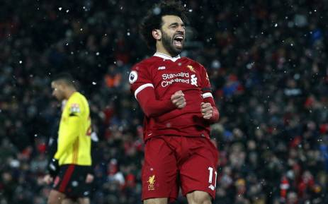 FILE: Liverpool's Mohamed Salah celebretes his goal against Watford in the English Premier League on 17 March 2018. Picture: Facebook