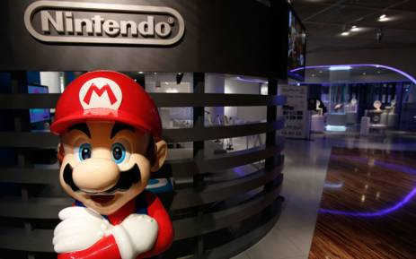 A statue of Nintendo's video game character Super Mario stands at the company's showroom in Tokyo, Japan. Picture: EPA.