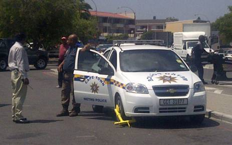 Metro cops caught parking illegally at Parow Centre in the Western Cape. Picture: Brenton English/iWitness