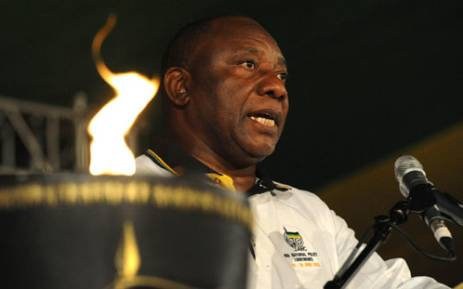 ANC Deputy President Cyril Ramaphosa speaking at the end of the 53rd ANC conference in Mangaung. Picture: ANC.