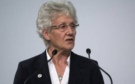 FILE: President of the Commonwealth Games Federation Louise Martin. Picture: AFP.
