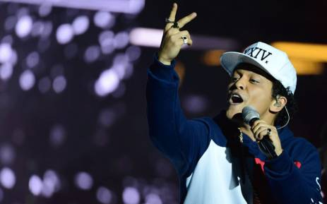 FILE: US singer Bruno Mars. Picture: AFP
