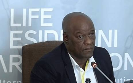 A screengrab of suspended Gauteng Health HOD Dr Barney Selebano at the Esidimeni hearing on 7 December 2017.