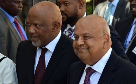 FILE: Deputy Finance Minister Mcebisi Jonas seenwith Finance Minister Pravin Gordhan. Picture: GCIS.