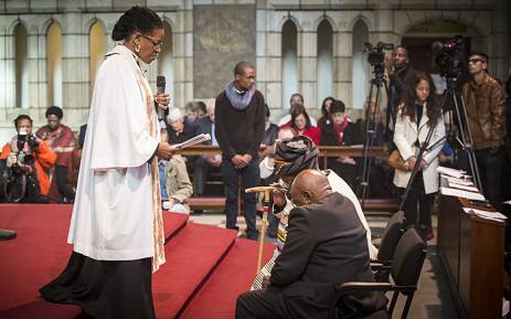 Archbishop Emeritus Desmond Tutu and his wife Leah say the secret to their six decade long marriage has been laughter. Picture: Aletta Gardner/EWN.