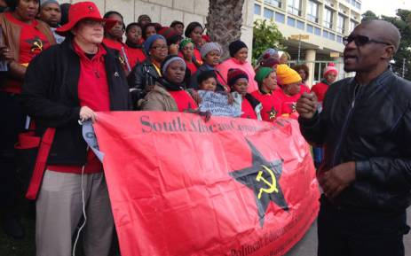 FILE: An SACP protest. Picture: Rahima Essop/EWN.