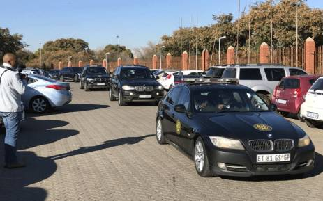 Former President Jacob Zuma was at Randburg Magistrates Court on Thursday to support his son Duduzane. Picture: Barry Bateman/EWN