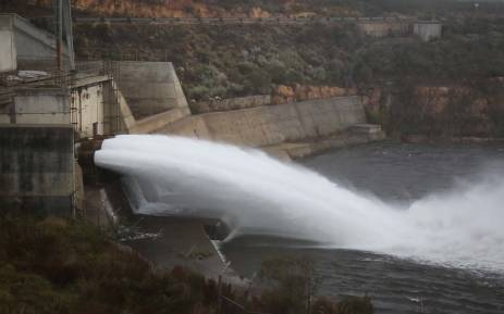 The National Water and Sanitation Department released water from the Berg River Dam to the Misverstand Dam to alleviate the water crisis along the West Coast. Picture: Bertram Malgas/EWN