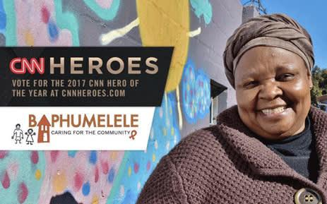 Rosie Mashale runs the Baphumelele organisation in Khayelitsha. Picture: @HorbachBonnie/Twitter