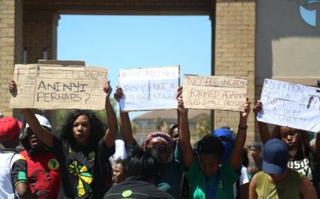 FILE: Thousands of university students across the country have been protesting against the proposed fee hike in their respective institutions. Picture: Andiswa Mkosi/Primedia.