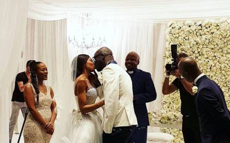 Dj Black Coffee And Mbali Mlotshwa Celebrated Their Marriage During A White Wedding Picture