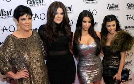 (L-R) Kris Jenner, Khloe Kardashian, Kim Kardashian and Kourtney Kardashian celebrate Kim Kardashian's 30th birthday at the Tao Nightclub on 15 October, 2010 in Las Vegas, Nevada. Picture: AFP