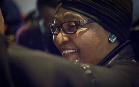 Supporters Sing in Honor of Winnie Mandela in Soweto