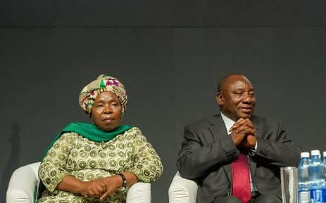 FILE: Deputy President Cyril Ramaphosa with ANC MP Nkosazana Dlamini Zuma on 7 September 2017 at the XIV World Forestry Congress. Picture: GCIS.