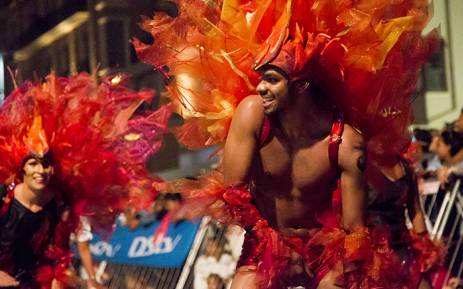 Fire dancers strut their stuff much to the delight of the crowds that gathered at the 2015 Cape Town Carnival. Picture: Thomas Holder/EWN