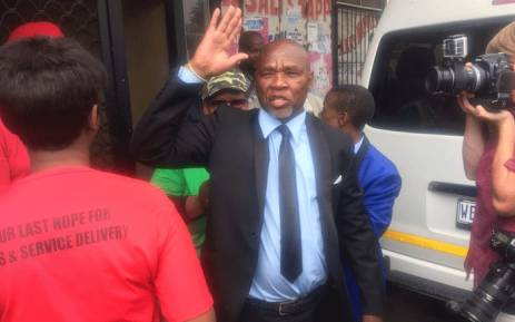 Apartheid prisoner Kenny Motsamai has been released on full parole after 27 years at the Boksburg Prison. Picture: Victor Magwedze/EWN.