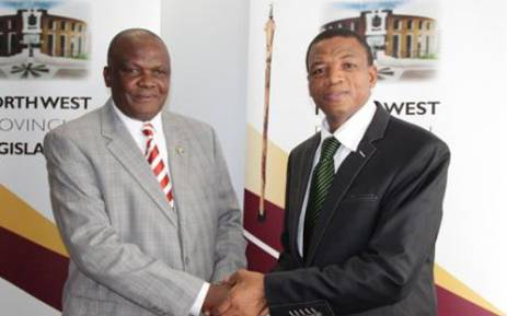 Supra Mahumapelo (right). Picture: www.nwpg.gov.za