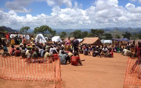 Refugees from Mozambique shortly after arrival in Kapise, Malawi. Picture: UNHCR.