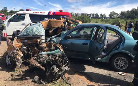 Two dead, five hurt in crash near Rustenburg
