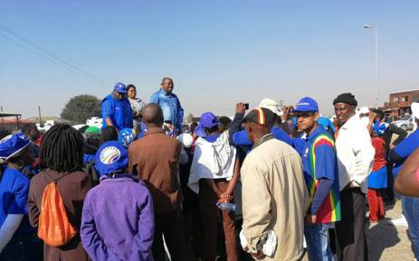 DA members marched to Refentse clinic near Hammanskraal on 22 June 2018, demanding answers about the disappearance of a baby at the facility. Picture: @DA_GPL/Twitter