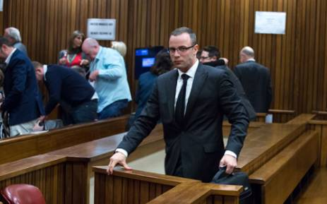 Oscar Pistorius during his murder trial at the High Court in Pretoria on 13 May 2014. Picture: Pool.