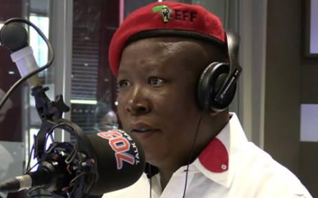Julius Malema on Talk Radio 702.  Picture: Christa van der Walt/EWN.