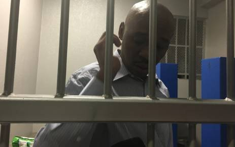 Donald Sebolai in the holding cells after being sentenced to an effective 20 years in prison. Picture: Mia Lindeque/EWN.
