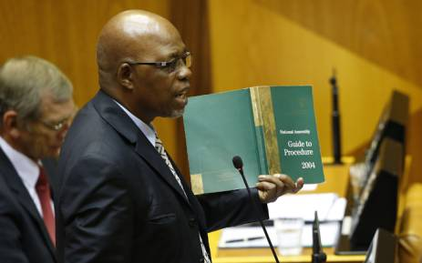 Former African National Congress (ANC) chief whip Stone Sizani. Picture: EPA/NIC BOTHMA/POOL.